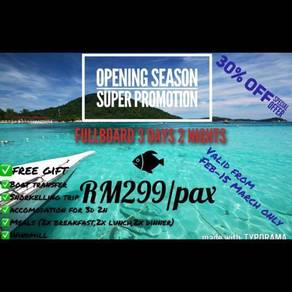 Perhentian open season promo package
