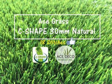 Premium 18 Stitches C30mm Natural Artificial Grass