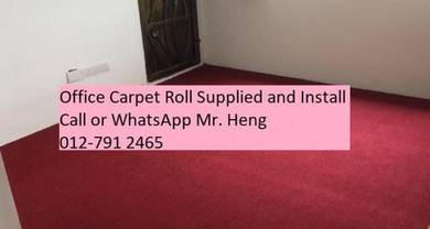 Plain Design Carpet Roll - with install 44rr444
