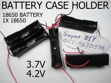 Battery case holder 18650 3.7V 4.2V Spring 1S 1P