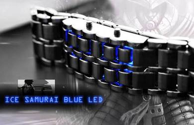 Jam Iron Samurai Blue Ice LED