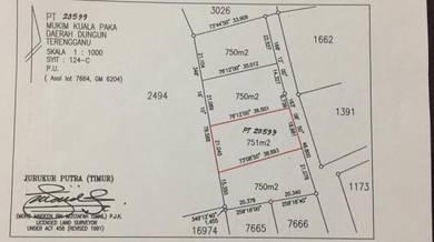 Tanah Lot Banglo Di Mukim Kuala Paka (Pinang Merah) Utk Di Jual 751 m2