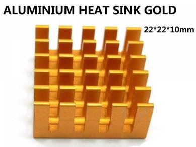 Heat Sink aluminium Gold 22*22*10 mm diy project