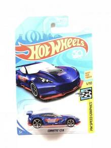 Hotwheels 2018 Corvette C7.R #1 Summit Blue