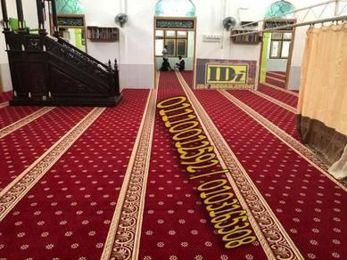 Bekal srta pasang karpet masjid turkey carpet no.6