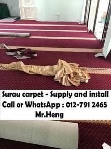 Mosque decor carpet we save you karpet Surau 63NO