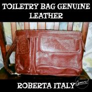 Toiletry bag leather roberta italy