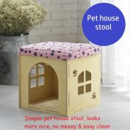 Wooden Pet house Stool, Cat Kennel, Sangkar Kucing