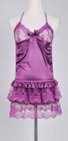 L637-2 Sexy Purple Babydoll Lingerie Sleepwear