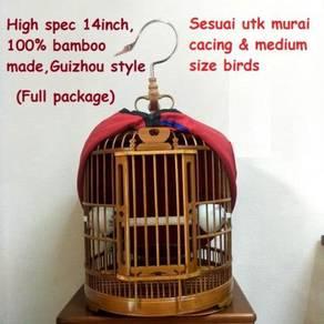 New Bamboo Bird Cage Sangkar Burung, Guizhou Style