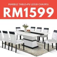 8 Chairs Marble Dining Set