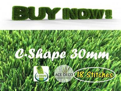Premium C30mm 18 Stitches Artificial Grass