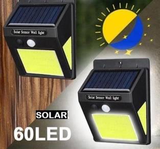 60COB LED SOLAR LAMP WALL LiGHT MOTION SENSOR