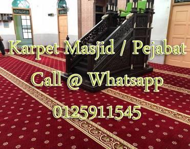 Masjid Carpet promo free mihrab &1xcuci karpet 3q