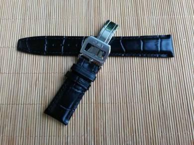 IWC 20 mm Genuine Crocodile Leather Watch Strap
