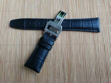 IWC 21mm Genuine Crocodile Leather Watch Strap