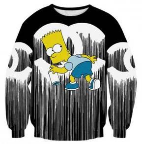 Bart Simpsons 3D Sweatshirt Casual Men Sweater