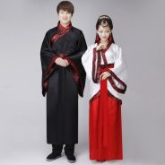 Tang dynasty chinese wedding couple costume