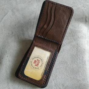 Brown mix Black Handmade Leather Wallet