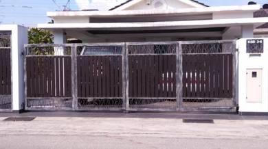 Mild Steel Glass Aluminium Folding Auto Gate