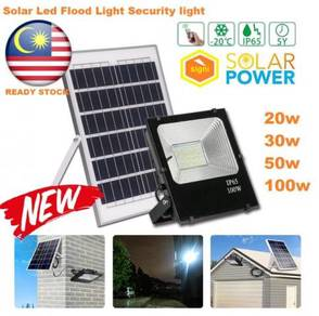 Solar Powered LED Flood Light 20W/30W/50W/100W