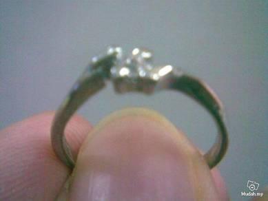 ABRSB-W003 WHITE Gemstone Jewelry Silver Ring Sz 6