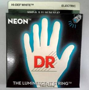 DR NEON String for Electric Guitar (White)