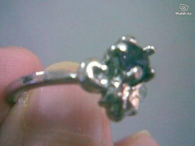 ABRSB-P003 Purple Gemstone Jewelry Silver Ring 8