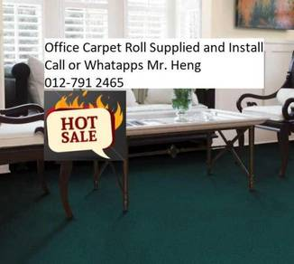 Classic Plain Design Carpet Roll with Install 45gh