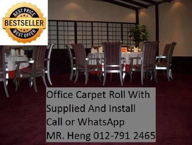 Modern Plain Design Carpet Roll With Install 23PT