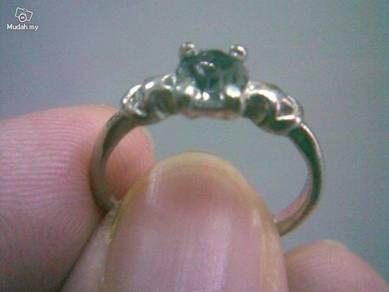 ABRSB-L003 Lt Brown Gemstone Jewelry Silver Ring