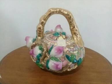 119 Antik teko handmade rare not kopitiam teapot