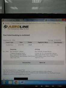 Aeroline Bus Ticket from Bandar Utama to Penang