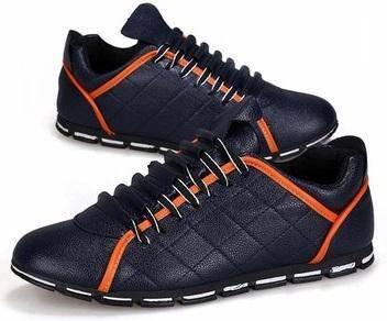S0243 England Retro Sneakers Blue Men Casual Shoes
