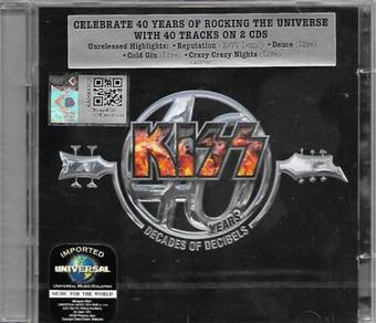 Kiss 40 Years Decades of Decibles Imported 2CD