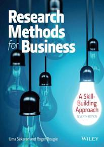 Research Methods For Business: A Skill Building