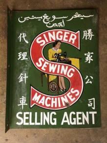 Singer Sewing Machine Papan Iklan Metal Signboard