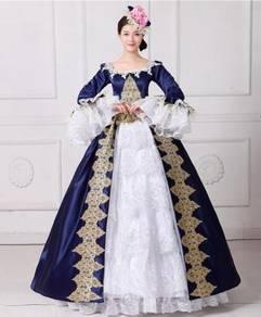 Blue White Ball Gown Dress Wedding RBMWD0043
