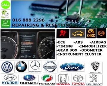 Checking, repairing & resetting ecu car