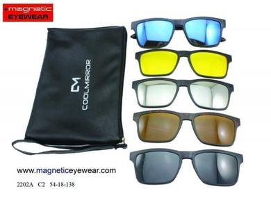 Sunglasses magnetic clip on 6 in 1 2202 DM