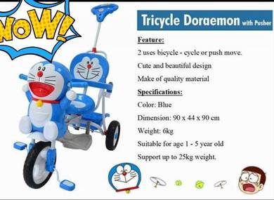 Tricycle Doraemon With Pusher