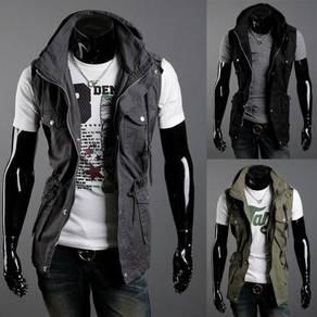 J18550 Tactical Black Military Vest Sweater Jacket