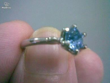ABRSB-L002 BLUE Gemstone Jewelry Silver Ring Sz5.5