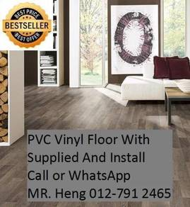 Natural Wood PVC Vinyl Floor - With Install th3t34