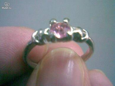 ABRSB-P001 PINK GEMSTONE JEWELRY SILVER RING Sz 7