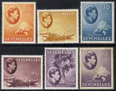 Seychelles kgvi 1938 definitives mm cat 16+ bj480