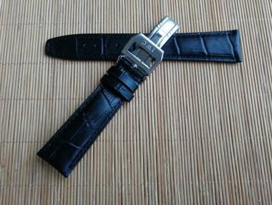 IWC 22 mm Genuine Crocodile Leather Watch Strap