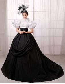 Black White Ball Gown Wedding Bridal RBMWD0042