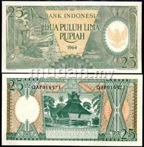 Indonesia 1964 25 rp unc