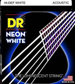 DR NEON String for Acoustic Guitar (Colour: WHITE)